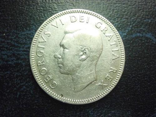 moneda canada 25 centavos jorge vi 1949 plata envió  gratis