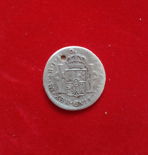 moneda carolus iiii 2 reales 1801 seca de lima