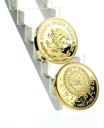 moneda centenario azteca 20 pesos oro 24k