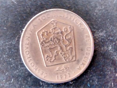 moneda checoslovaquia 2 koronas  1972 (771z