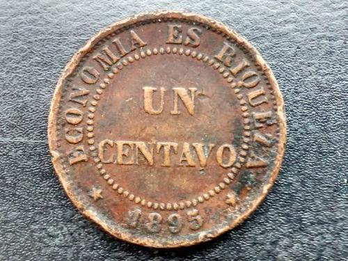 moneda chile 1 centavo de cobre 1895  vf  (195ch