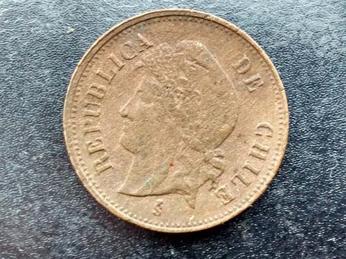 moneda chile 1 centavo de cobre 1898  vf ++ (204ch