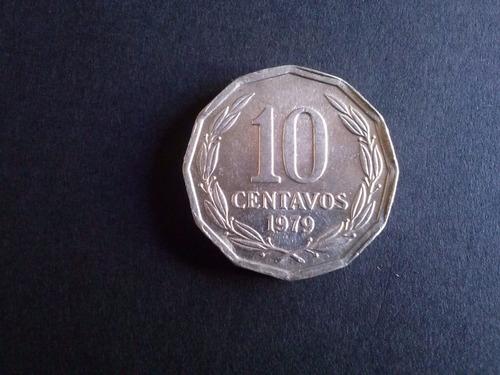 moneda chile 10 centavos aluminio 1979 (22a)
