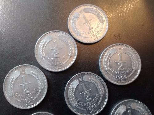 moneda chile 1/2 centesimo 1962  al casi sin circ (e6