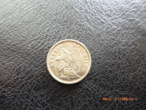 moneda chile 5 centavos 1921 niquel