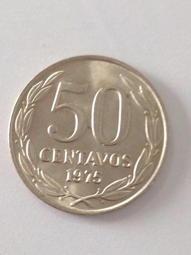 moneda chile 50 centavos 1975 unc (308ch