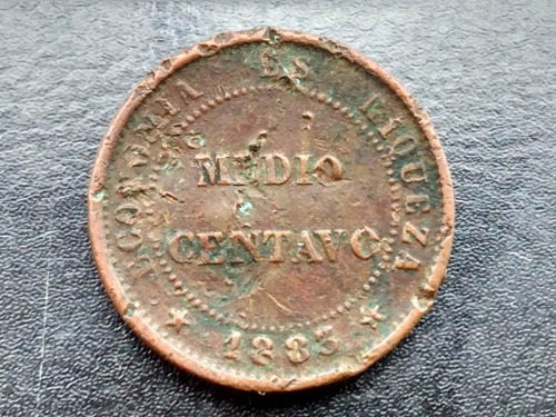 moneda  chile  de cobre 1/2 centavo  1883  vf (213ch