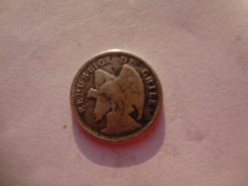 moneda chilena 10 centavos de 1896