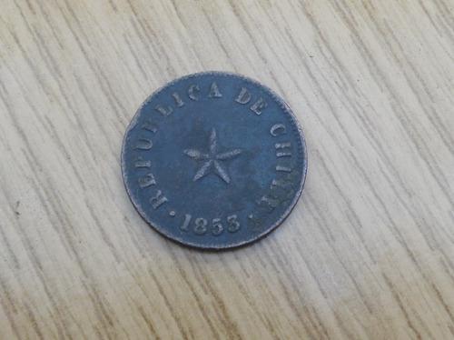 moneda chilena de medio centavo año 1853