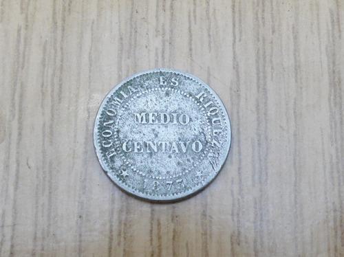 moneda chilena de medio centavo año 1873