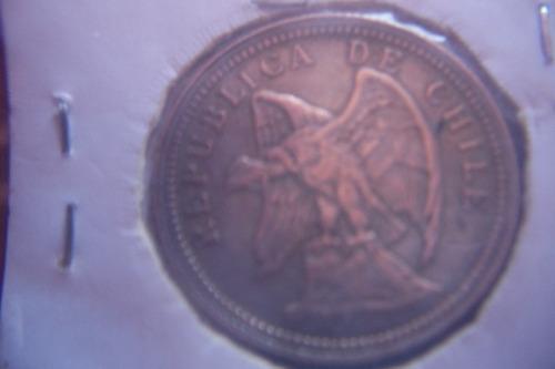 moneda chilena de plata año 1921