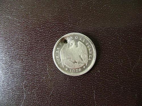 moneda chilena medio décimo 1870
