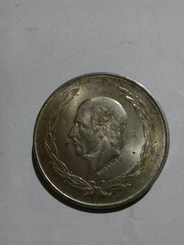 moneda cinco pesos,año 1953, ley 0.720 hidalgo
