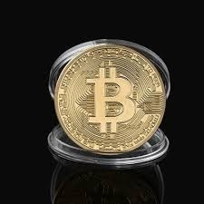 moneda coleccion bitcoin banada oro (mica estillada envio)