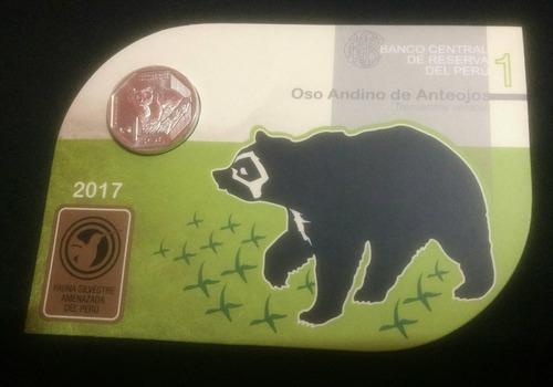 moneda coleccion serie numismatica oso en blister