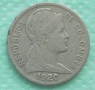 moneda colombia 1 centavo 1920 de coleccion super  escasa