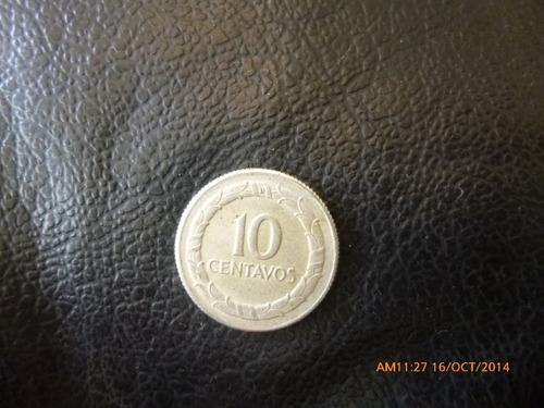moneda colombia 10 centavos 1951  plata 0.500 (1001z