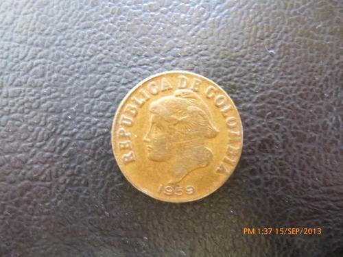 moneda colombia 2 centavos 1959 (189z