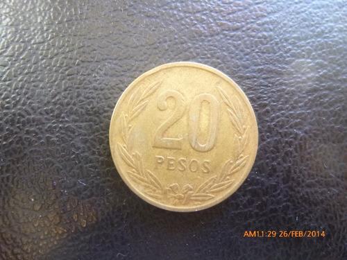 moneda colombia 20 pesos 1989 (182z