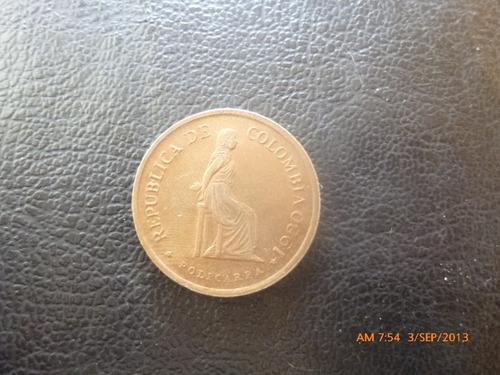 moneda colombia 5 pesos 1980 (193z