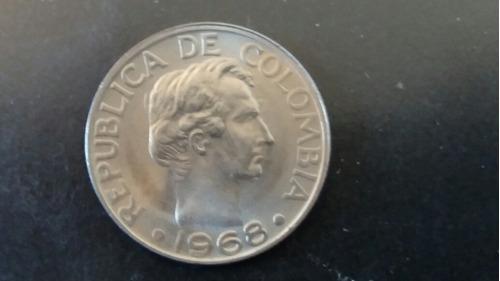 moneda colombia 50 centavos 1968 (899z