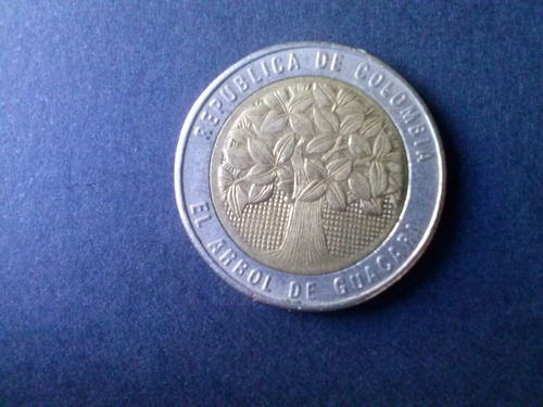 moneda colombia 500 pesos bimetalica 2003