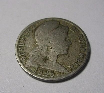 moneda colombia antigua 1935 v centavos