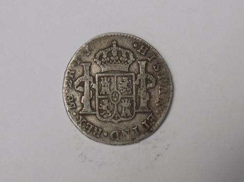 moneda colonial de 2 reales año 1800