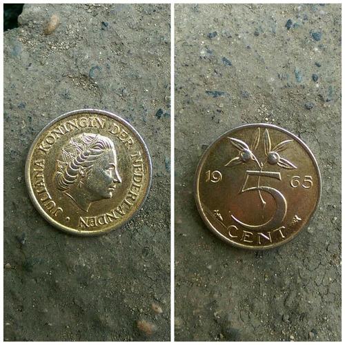 moneda con baño de oro juliana koningin