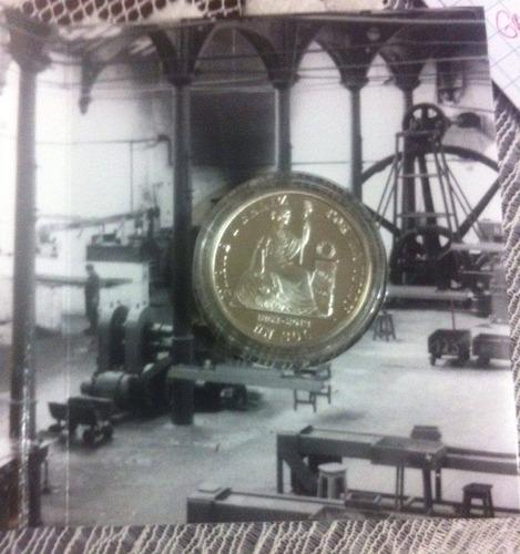 moneda conmemorativa 150 años del sol plata 180 soles