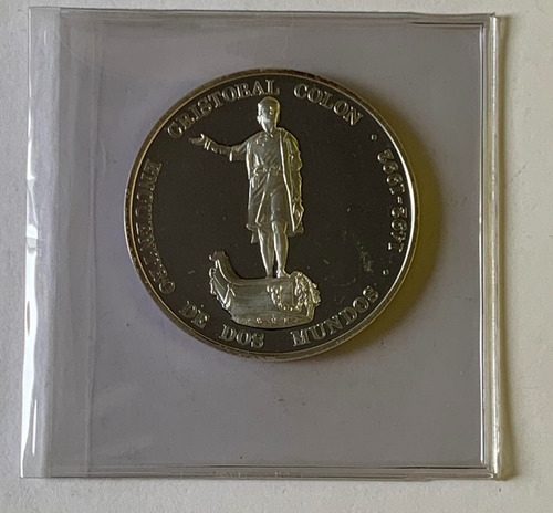moneda conmemorativa al descubrimiento de america