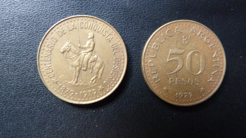 moneda conmemorativa conquista del desierto  79