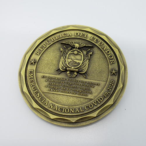 moneda conmemorativa emergencia nacional 2020