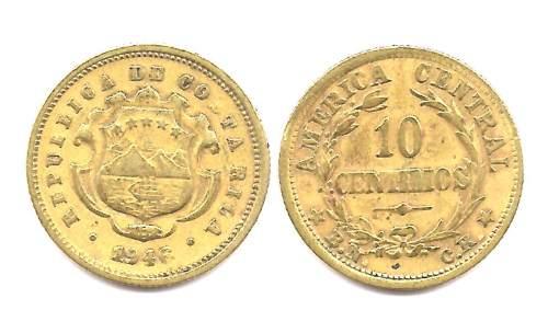 Moneda Costa Rica 10 Centavos Año 1946 Muy Buena