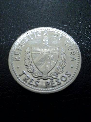 moneda cuba che guevara 1992/1995/2002 tres pesos vf