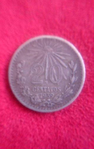 moneda d plata antigua 20 centavos lazaro cardenas