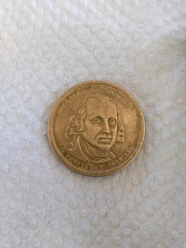 moneda de 1 balboa de james madison 1809-1817
