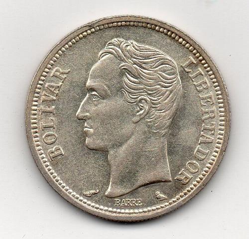 moneda de 1 bs 1965 5gr plata