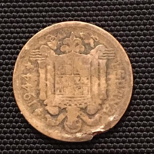 moneda de 1 peseta año 1944
