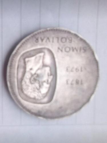 moneda de 10 bolívare de 30 gramos de simón bolívar año 1973
