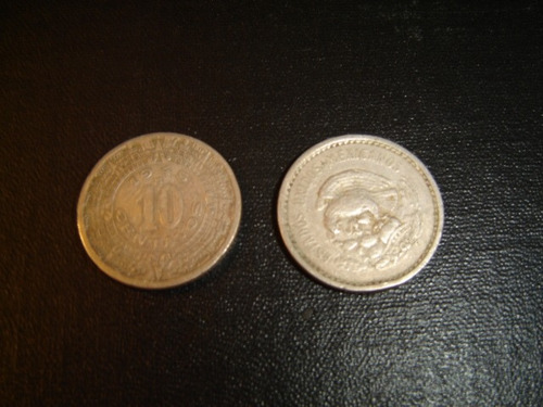 moneda de 10 centavos, niquel año 1945 mexico