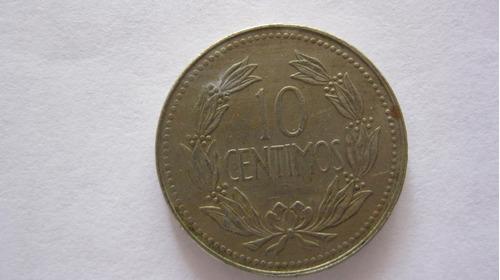 moneda de 10 céntimos año 1971