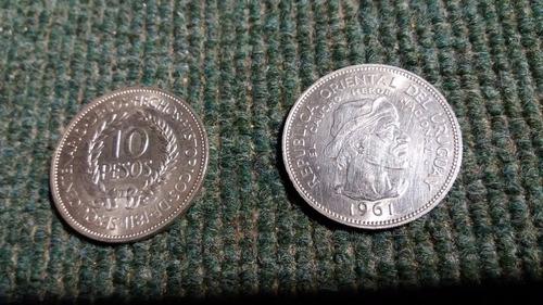 moneda de 10 pesos de plata de 1961 - precio por unidad