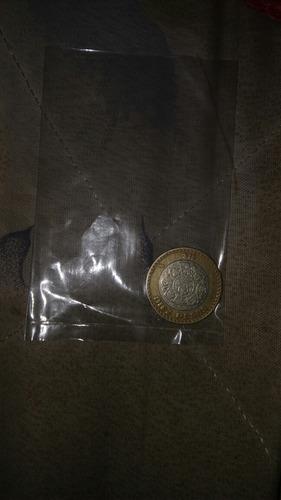 moneda de 10 pesos grafila invertida año 2007