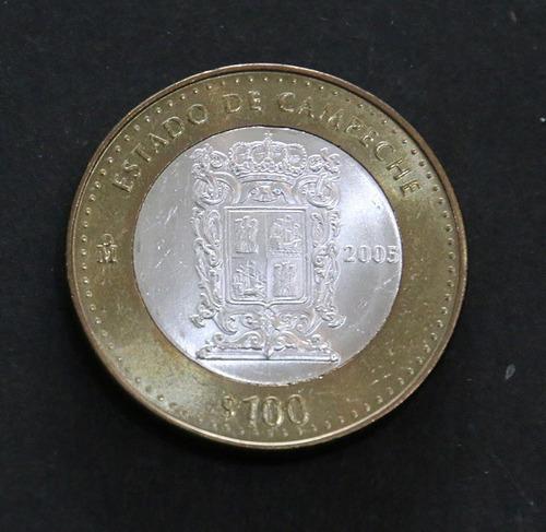 moneda de 100 pesos de los estados