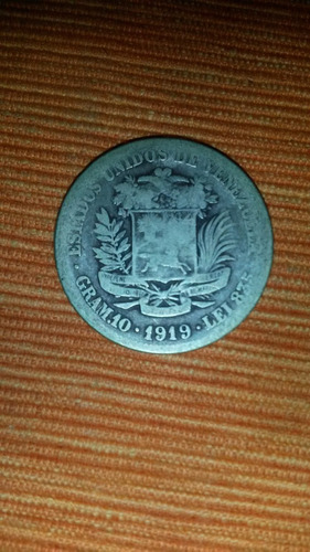 moneda de 2 bolivares de 1919