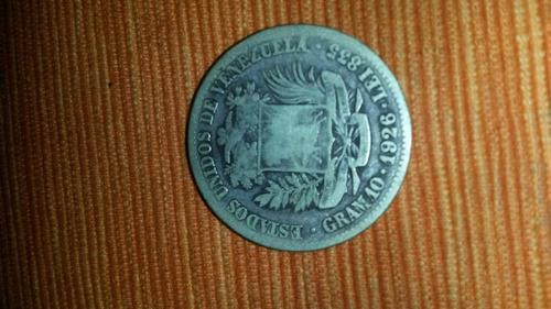 moneda de 2 bolivares de 1926