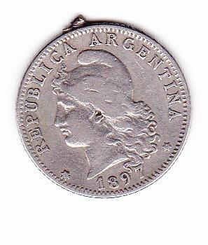 moneda de 20 centavos argentina 1897