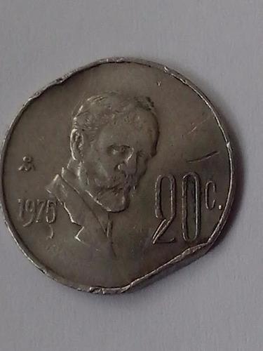 moneda de 20 centavos ,madero,error