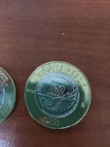 moneda de 20 pesos conmemorativa 100 años fuerza aérea